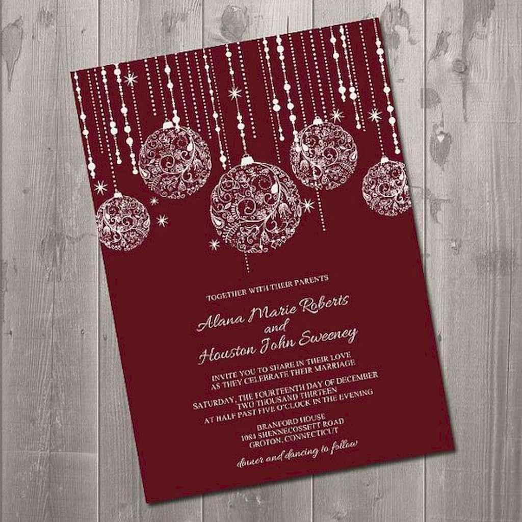 10 Elegant Christmas Wedding Invitations Ideas