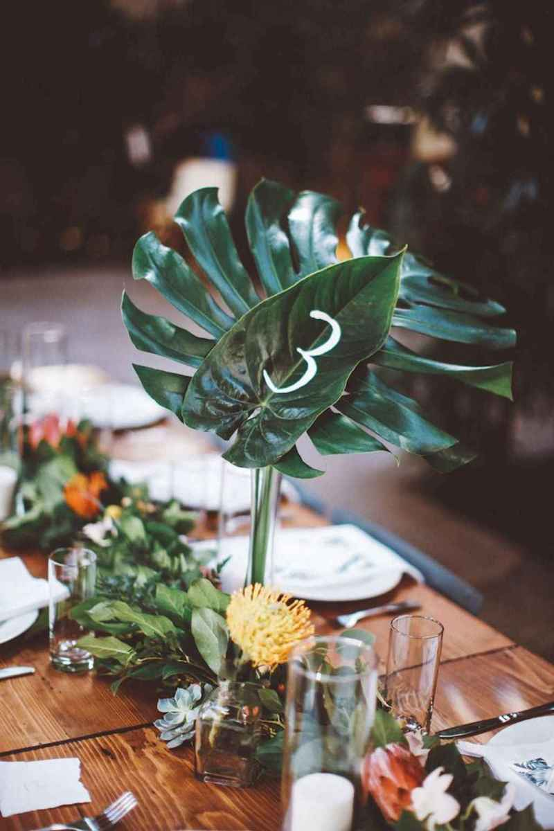 106 Romantic Tropical Wedding Ideas Reception Centerpiece