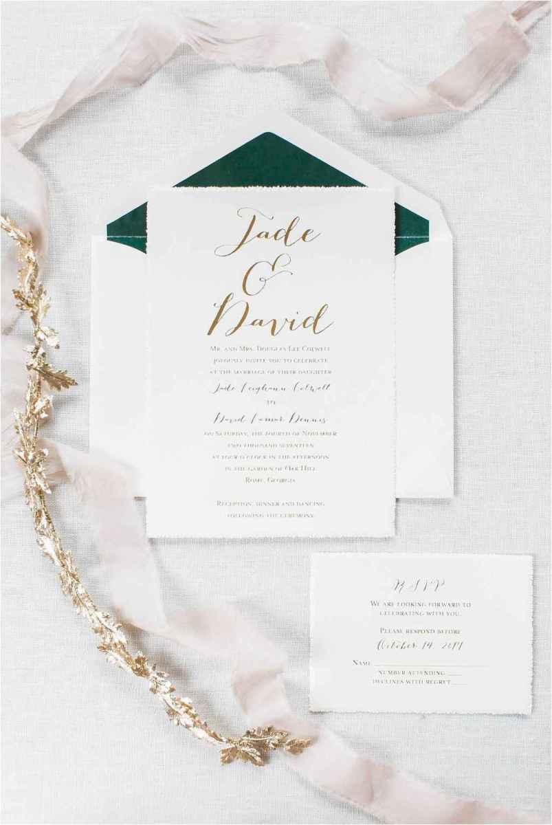 11 Elegant Christmas Wedding Invitations Ideas