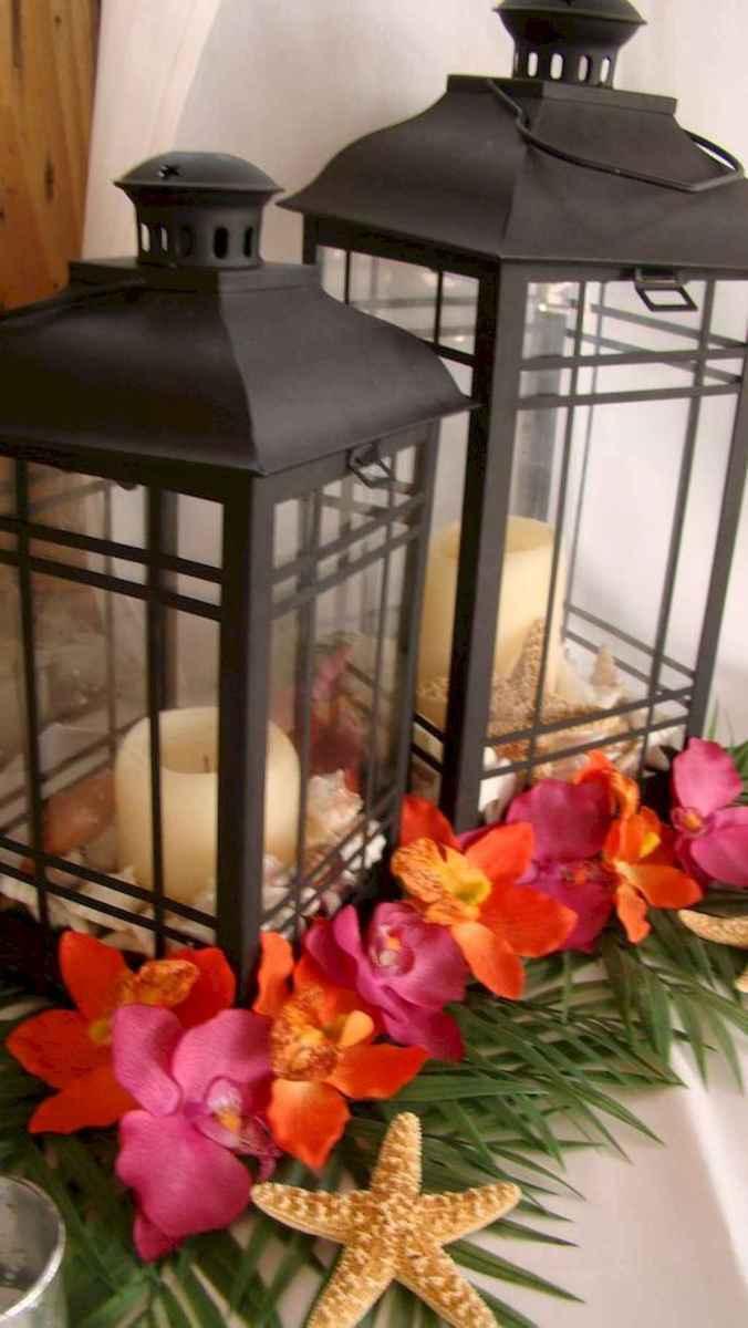 110 Romantic Tropical Wedding Ideas Reception Centerpiece