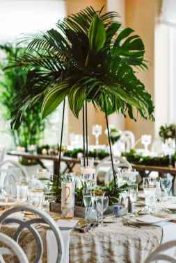 113 Romantic Tropical Wedding Ideas Reception Centerpiece