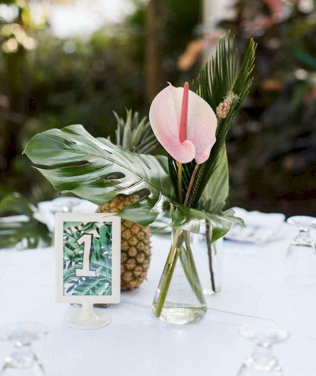 13 Romantic Tropical Wedding Ideas Reception Centerpiece