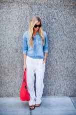 14 Summer White Linen Pants Outfit for Women