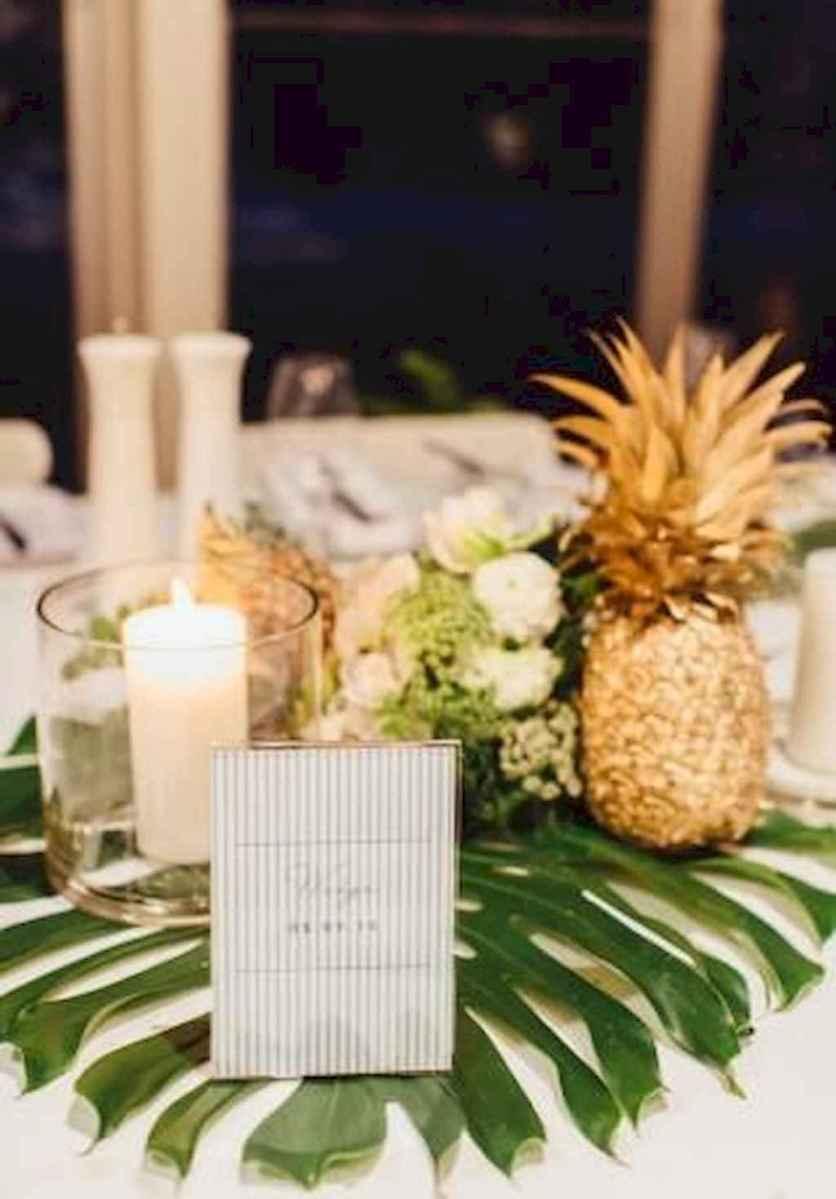 20 Romantic Tropical Wedding Ideas Reception Centerpiece