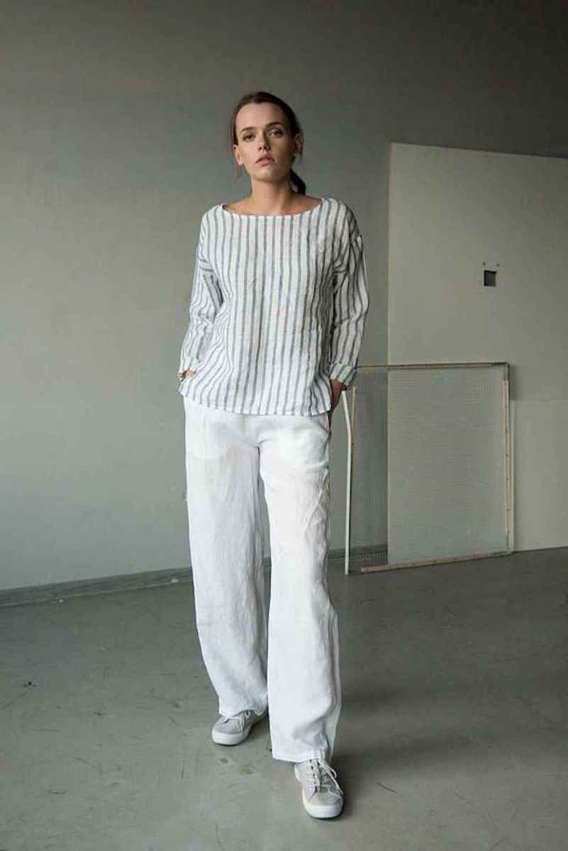 20 Summer White Linen Pants Outfit for Women