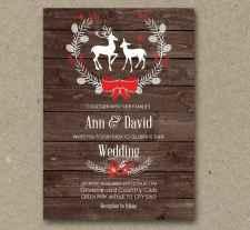 25 Elegant Christmas Wedding Invitations Ideas