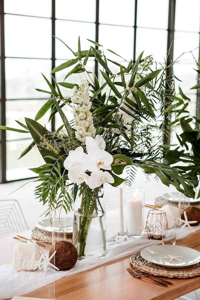 26 Romantic Tropical Wedding Ideas Reception Centerpiece