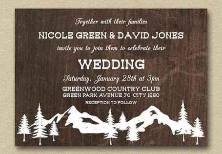 28 Elegant Christmas Wedding Invitations Ideas