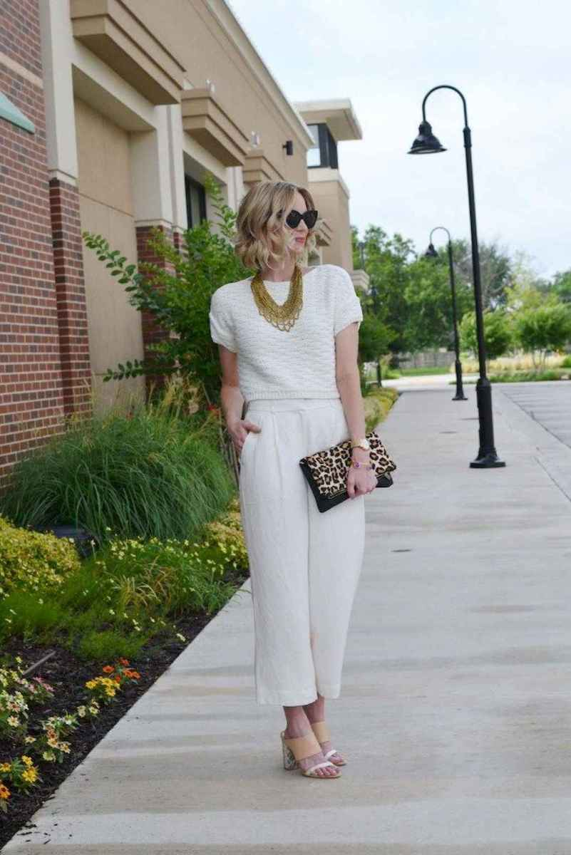 30 Summer White Linen Pants Outfit for Women