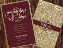 32 Elegant Christmas Wedding Invitations Ideas