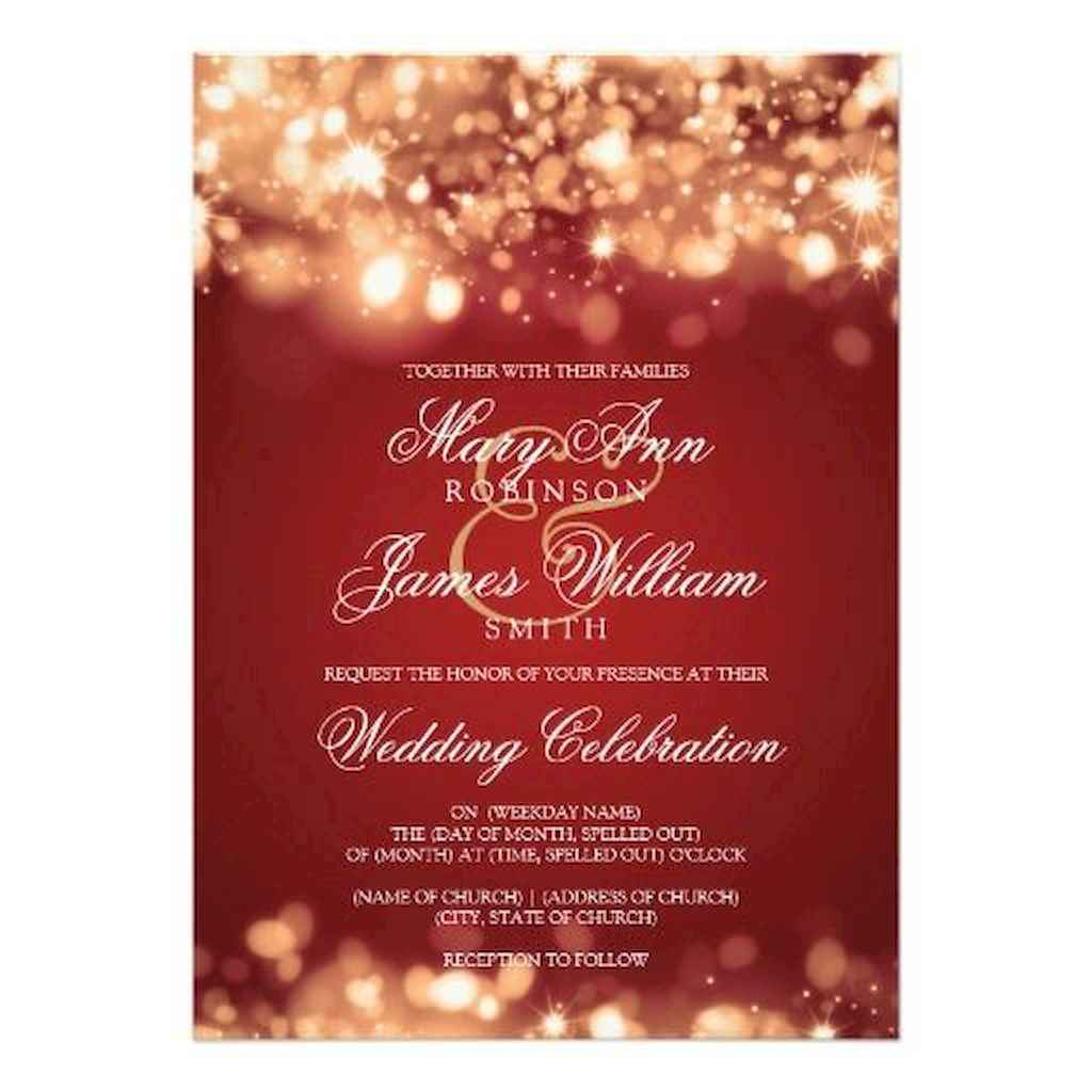 34 Elegant Christmas Wedding Invitations Ideas