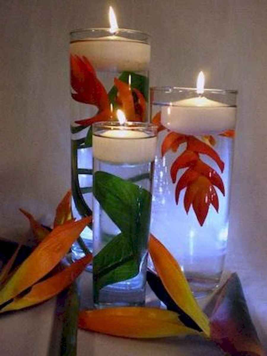 34 Romantic Tropical Wedding Ideas Reception Centerpiece