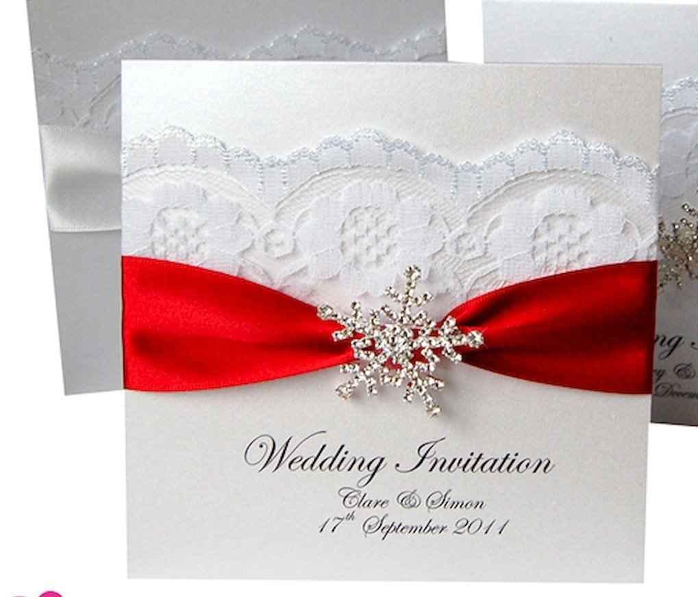 35 Elegant Christmas Wedding Invitations Ideas