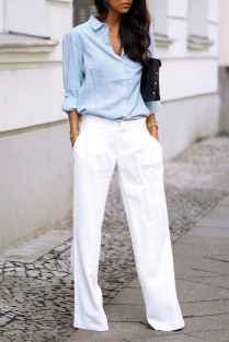 35 Summer White Linen Pants Outfit for Women