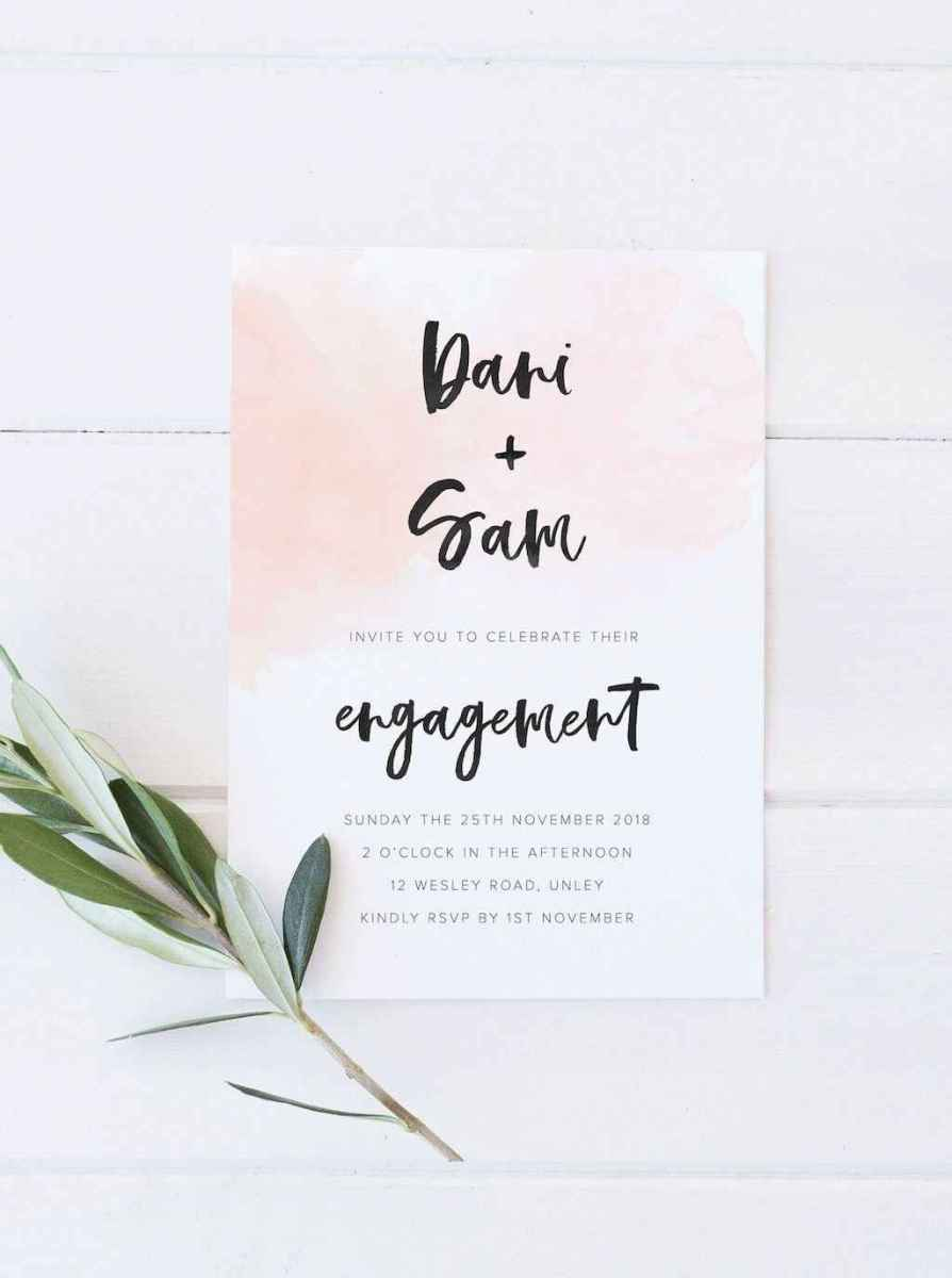 38 Inexpensive Engagement Party Invitations Ideas