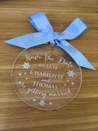 44 Elegant Christmas Wedding Invitations Ideas