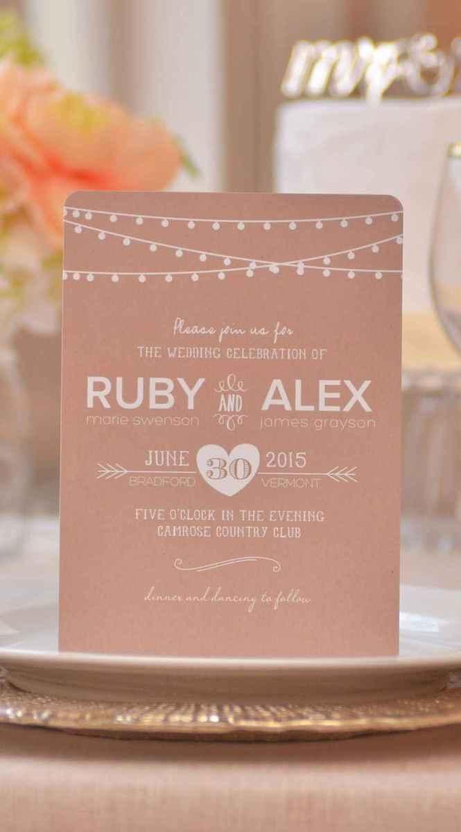 47 Simple Inexpensive Wedding Invitations Ideas