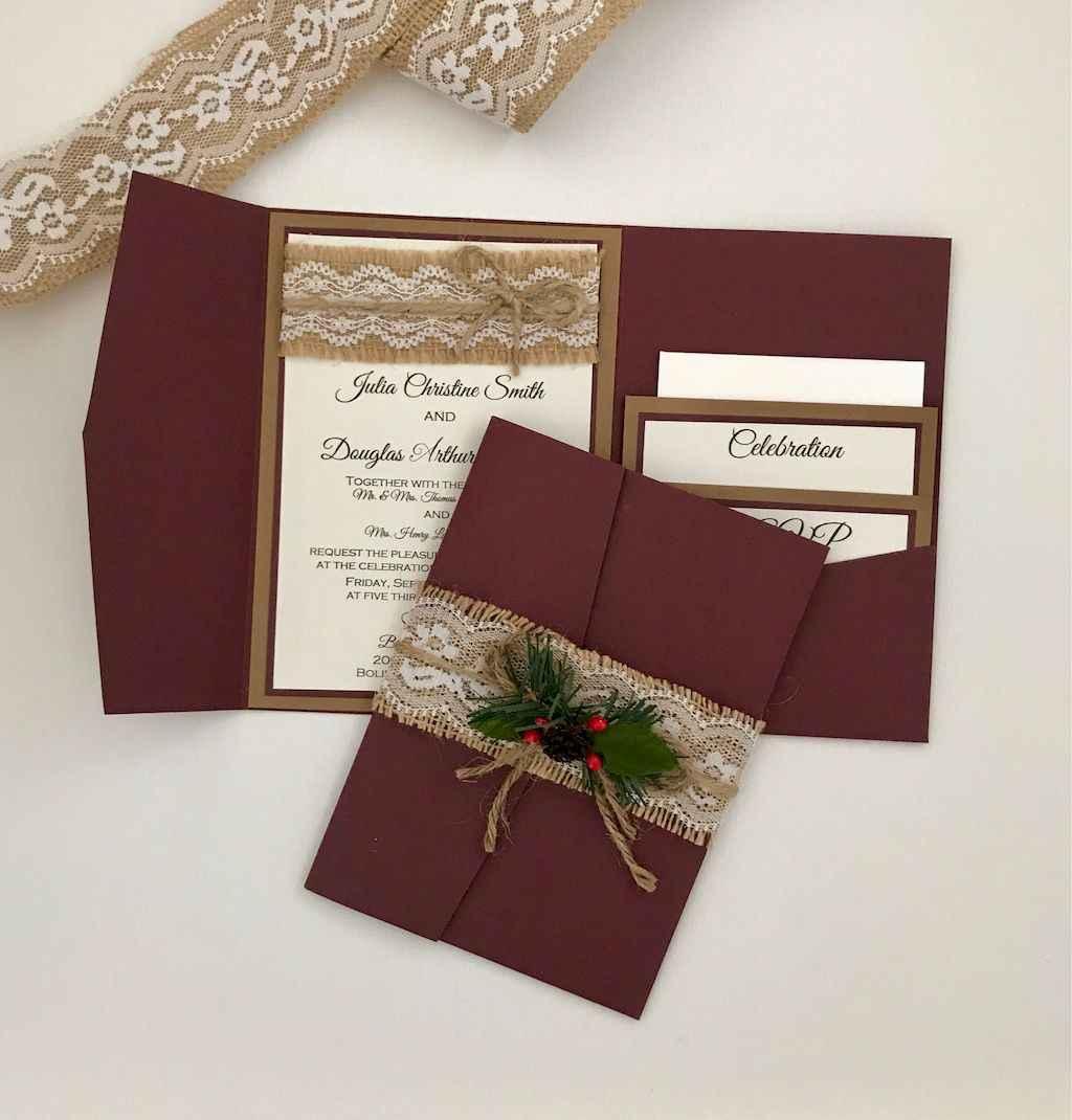 48 Elegant Christmas Wedding Invitations Ideas