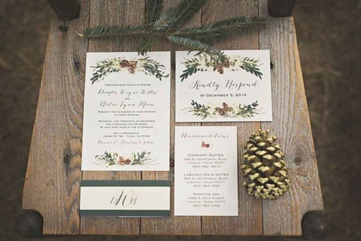 51 Elegant Christmas Wedding Invitations Ideas