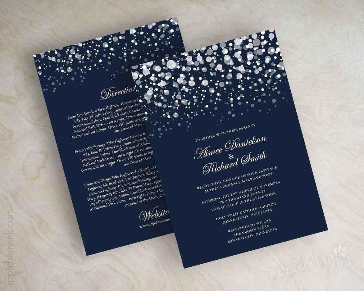 52 Elegant Christmas Wedding Invitations Ideas