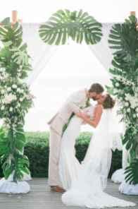 52 Romantic Tropical Wedding Ideas Reception Centerpiece