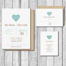 53 Simple Inexpensive Wedding Invitations Ideas