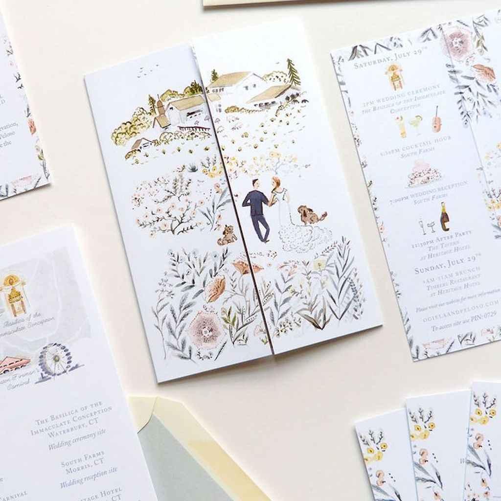55 Elegant Christmas Wedding Invitations Ideas
