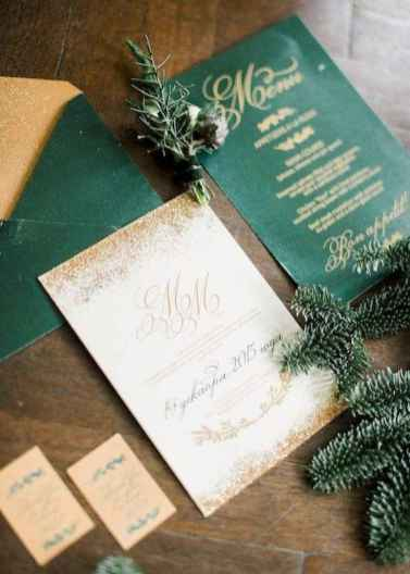 56 Elegant Christmas Wedding Invitations Ideas