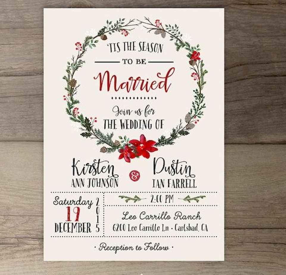 57 Elegant Christmas Wedding Invitations Ideas