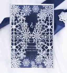 58 Elegant Christmas Wedding Invitations Ideas