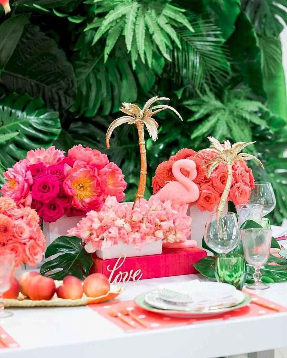 59 Romantic Tropical Wedding Ideas Reception Centerpiece