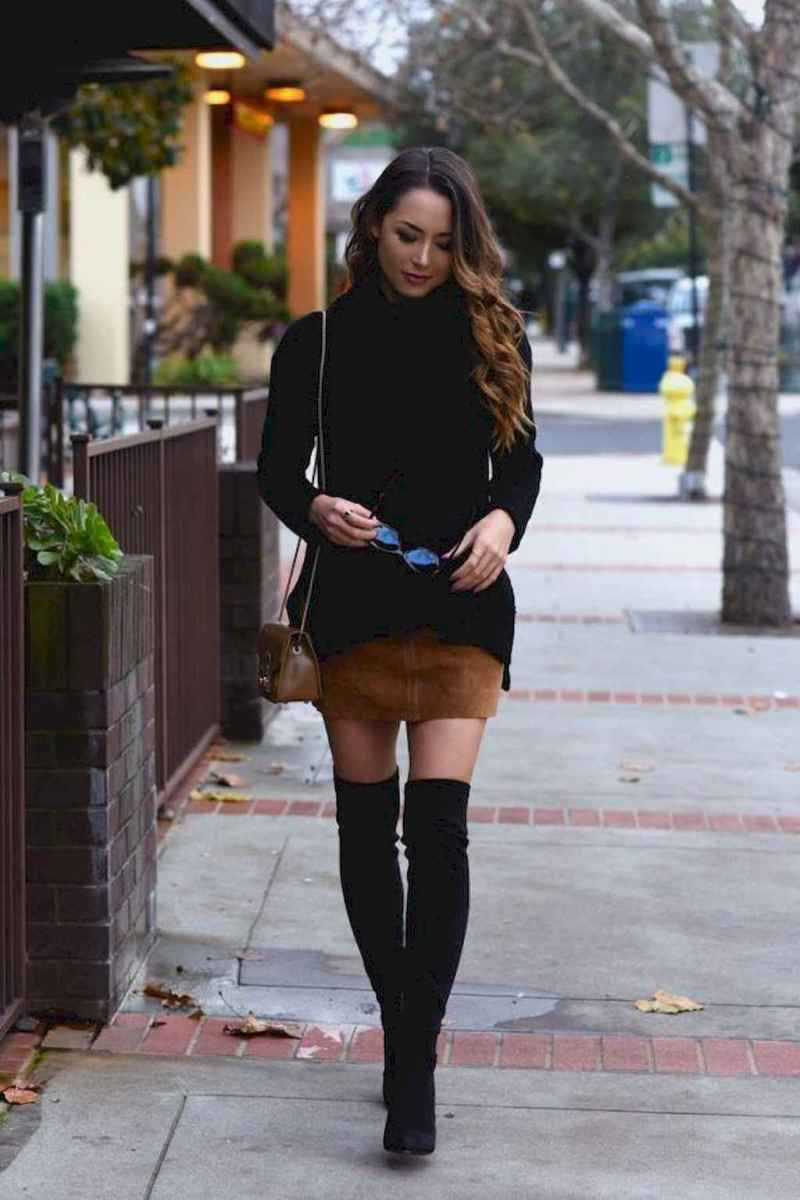 72Best Boots to Wear with Skirts