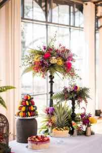 76 Romantic Tropical Wedding Ideas Reception Centerpiece