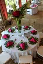 79 Romantic Tropical Wedding Ideas Reception Centerpiece