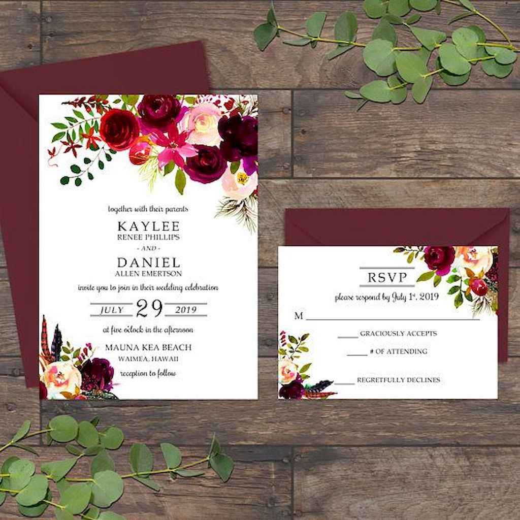 87 Simple Inexpensive Wedding Invitations Ideas