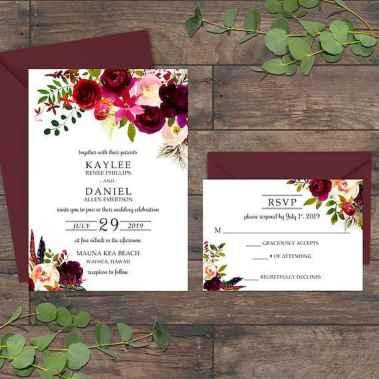 87 Simple Inexpensive Wedding Invitations Ideas