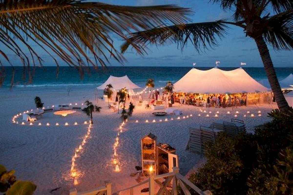 99 Romantic Tropical Wedding Ideas Reception Centerpiece