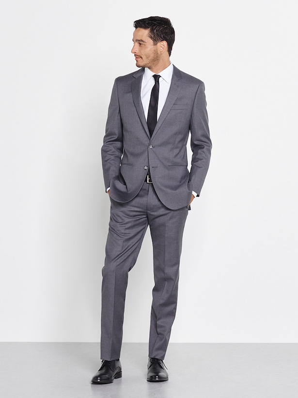 Gray suit for groom