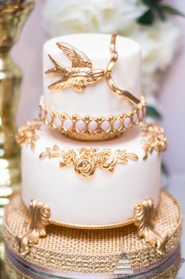 15 Stunning Metallic Wedding Cakes Belle The Magazine