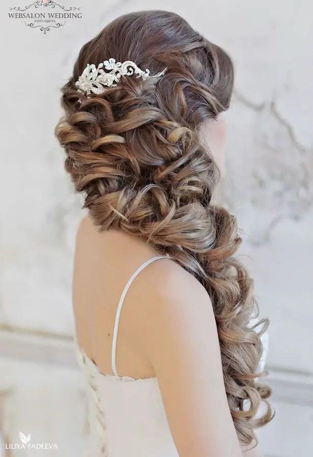 Loose Curls Wedding Hairstyle