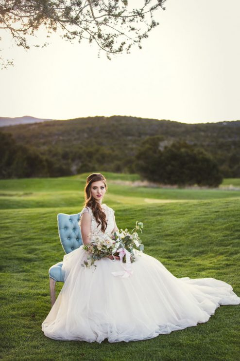 Dusty Blue And Blush Bridal Session Belle The Magazine