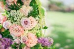 Lavender Wedding FlowersGarden Wedding Arch - Donna Lams Photo