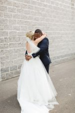 Romantic wedding photo - bride and groom first look - Photography: Rochelle Louise