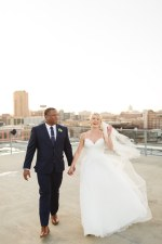 Romantic wedding photo - bride and groom rooftop - Photography: Rochelle Louise