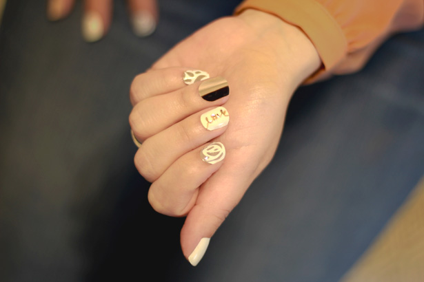 Beautiful + Easy Wedding Nail Art With Cricut