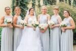 matching garden rose wedding party bouquet - Sarah Nichole Photography