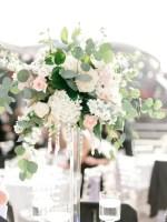 tall hydrangea and rose wedding centerpiece - Sarah Nichole Photography