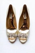 gold wedding shoes - Luke & Ashley Photography