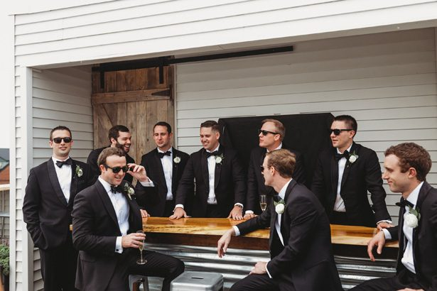 Groomsmen in black classic tuxedos - Man and Wife Photography