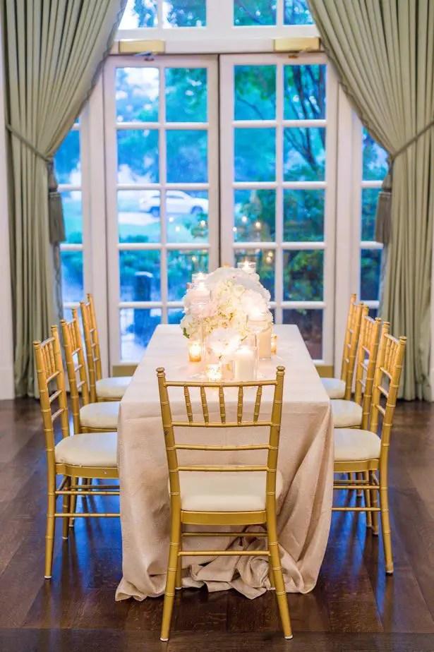 Long wedding table - Heather Durham Photography